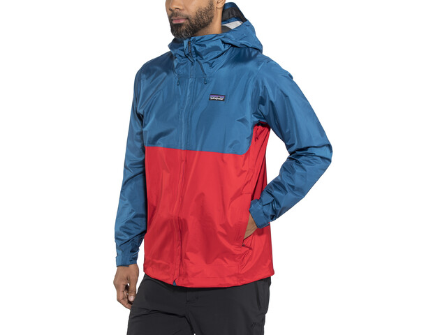 14645d50f Patagonia Torrentshell Jacket Men big sur blue w/fire red